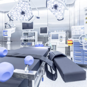 stainless steel operating room full of medical products